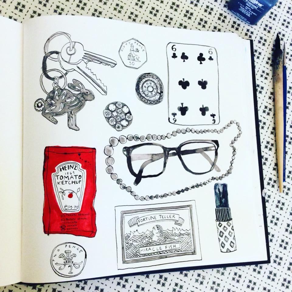 handbag drawing