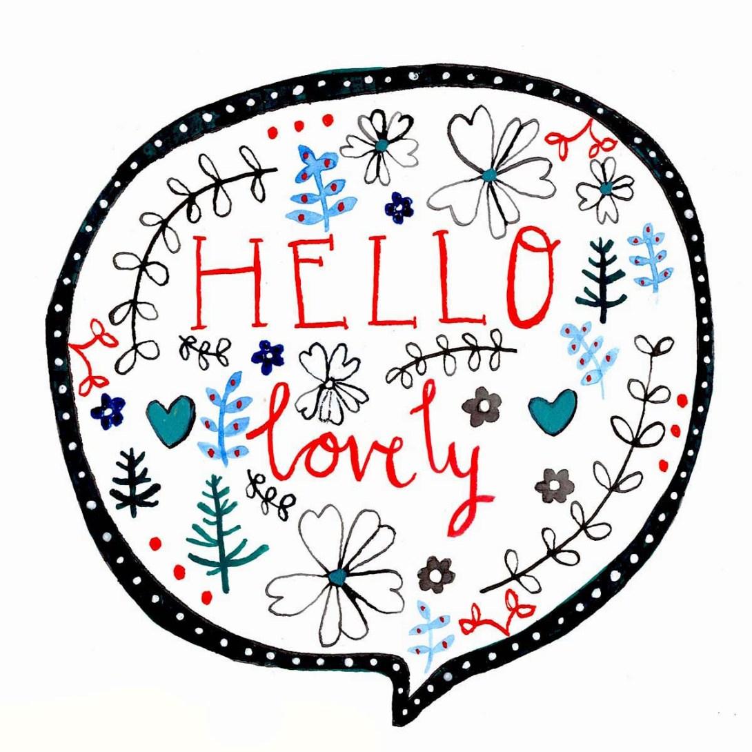 hello lovely lettering